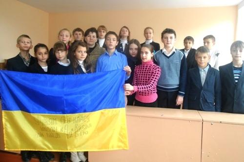Акція на підтримку українських військових - школа №9