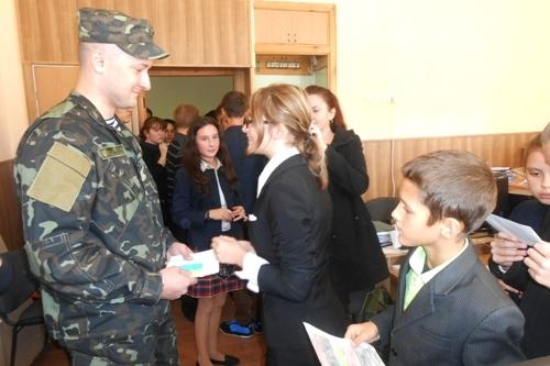 Зустріч з воїном АТО - школа №9