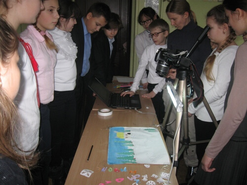 майстер – клас по створенню мультфільмів - школа №9