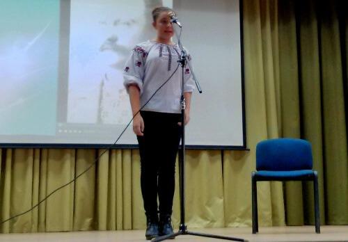 Участь у районному конкурсі читців поезії Івана Франка - школа №9